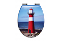 Ridder 02104100 LIGHTHOUSE WC sedátko, soft close, MDF s motivem  42,5 × 35,7 cm